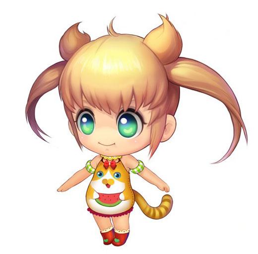 萌,小编都非常喜欢这一只宠物喔~   金黄的头发,碧绿的眼睛,调皮的衣